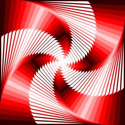 Nálepka Konstrukce barevné vír pohyb iluze čtyřúhelník geometrické zadní