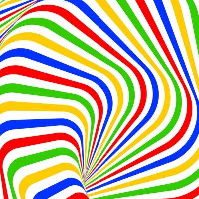 Nálepka Konstrukce barevné vír pohyb iluze pozadí