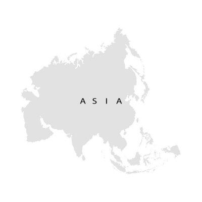 Nálepka kontinent Asie