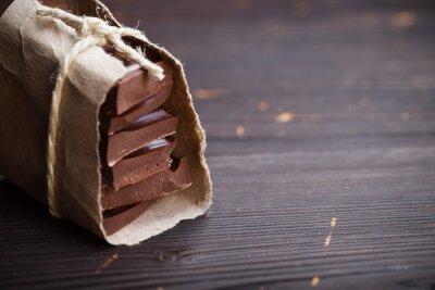Nálepka Kousky čokolády zabalené