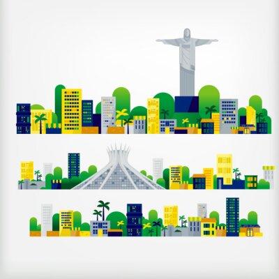 Nálepka krajina brazílie