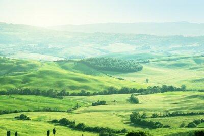 Nálepka krajiny v Toskánsku, Itálie