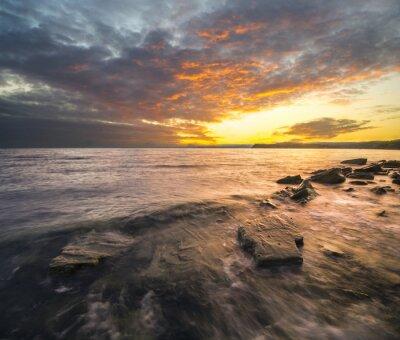 Nálepka Krajobraz morski, zachód słońca