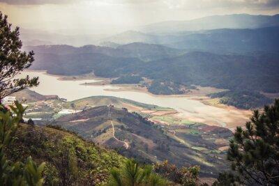 Nálepka Krásná horská krajina
