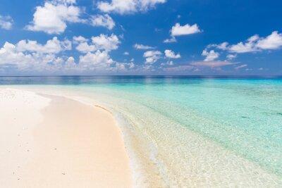 Nálepka Krásná oceán pláž na Maledivách