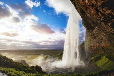 Nálepka Krásná úžasné krajiny z Islandu, Seljandafoss vodopádu