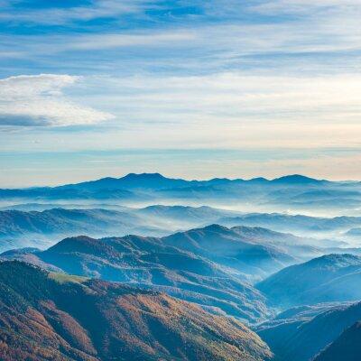 Nálepka Krásné modré hory a kopce
