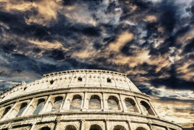 Nálepka Krásné nebe nad Koloseum v Římě