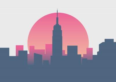 Nálepka Krásný newyorský východ slunce minimální východ slunce