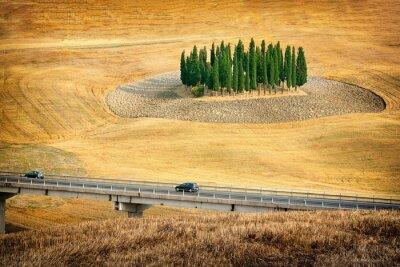 Nálepka Krásný výhled na letní krajina v Toskánsku