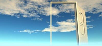 Nálepka Krásný výhled na oblohu. Dveře do nebe.
