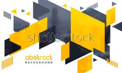Nálepka Kreativní abstraktní design zdobené pozadí.