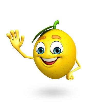 Nálepka Kreslená postavička citronu