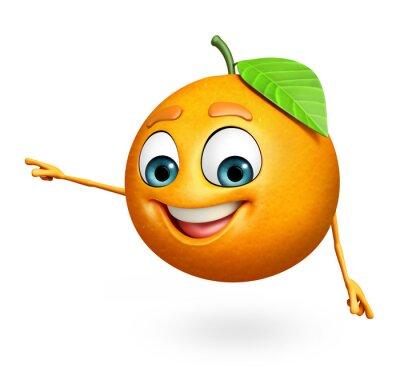 Nálepka Kreslená postavička pomeranče