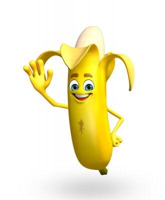 Nálepka Kreslená postavička z banánů ovoce
