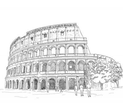 Nálepka Kreslení Římské Koloseum