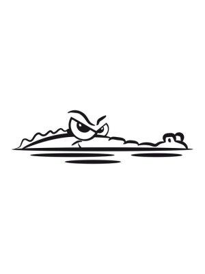 Nálepka Krokodýl Lauren voda
