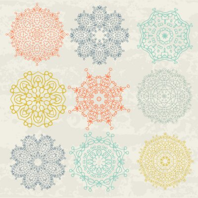 Nálepka kruhové vzory