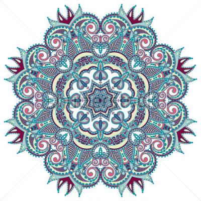 Nálepka Kruhový ornament, ozdobná kulatá krajka