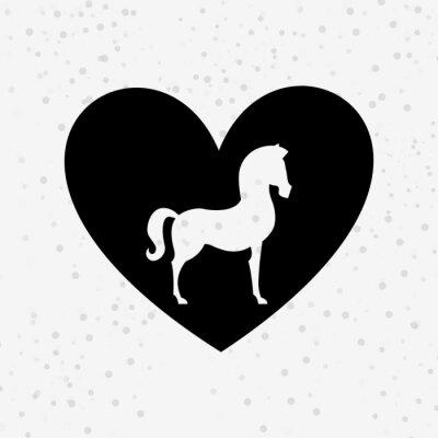 Nálepka kůň silueta Design