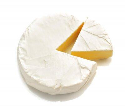 Nálepka kus sýra sýra na bílém