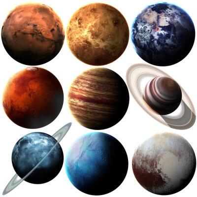 Nálepka Kvalita Výška izolované sluneční soustavy planet. Prvky tohoto obrázku zařízený NASA
