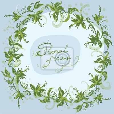 květinový věnec rám jarní bylinný