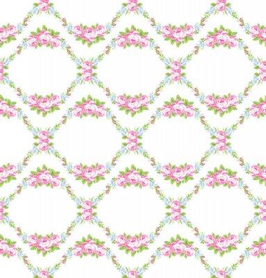 Nálepka Květinovým vzorem se zahradou růžových růží