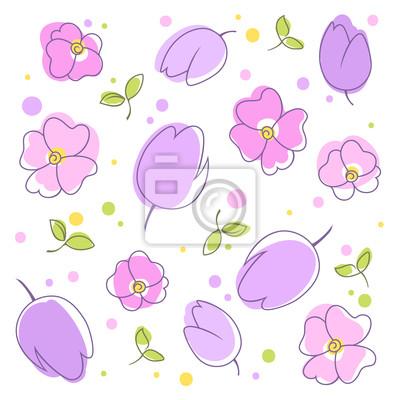 Nálepka kwiaty w TLE