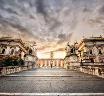 Nálepka La Scalinata del Campidoglio, Řím