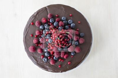 Nálepka Lahodný čokoládový dort