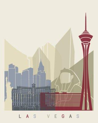 Nálepka Las Vegas panorama plakát