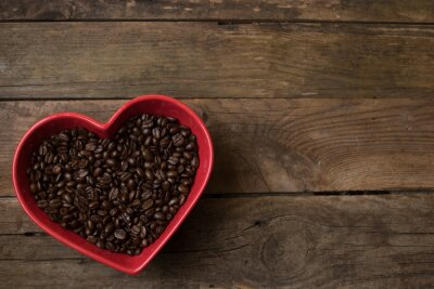 Nálepka láska na kávu,
