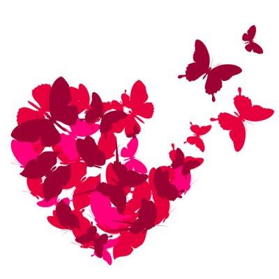 Nálepka láska srdce,