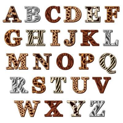 Nálepka Latinská abeceda se zvířecím potiskem
