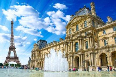 Nálepka Le Louvre, Paříž, Francie