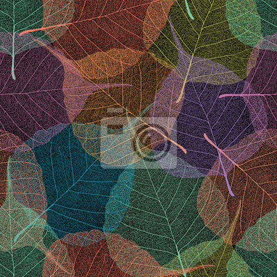Leaf vein seamless splicing wallpaper