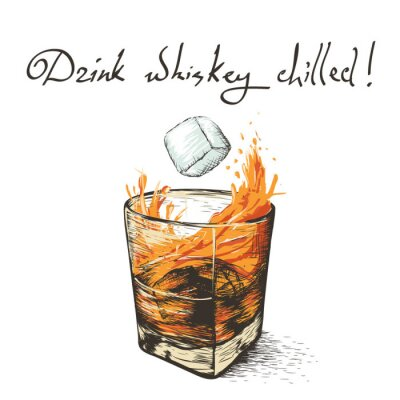Nálepka led upadne do whisky