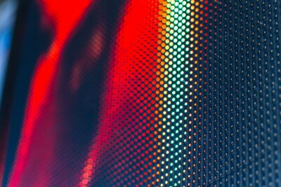 Nálepka LED video stěna s vysokou nasycenou vzorem