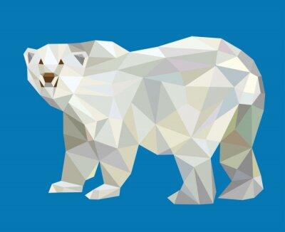 Nálepka Lední medvěd low poly vektor