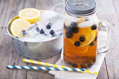 Nálepka Ledový čaj s citronem a borůvkami