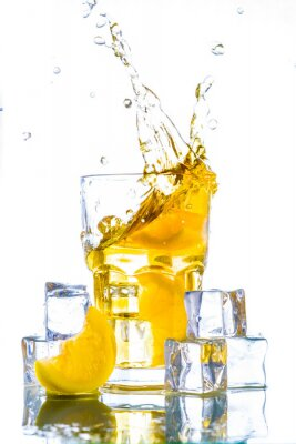 Nálepka Ledový čaj s citronem šplouchnutím