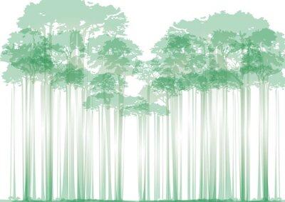 Nálepka les na neutrálním pozadí
