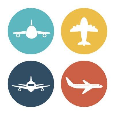 Nálepka Letadlo a cesty