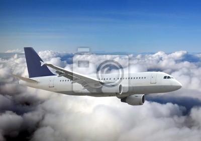 Nálepka Letadlo nad oblohou