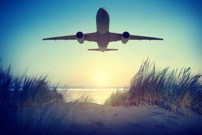 Nálepka Letadlo Travel Destination Outdoors Sundej Concept