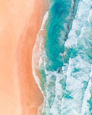 Nálepka Letecký pohled na krásné australské pláže podél Great Ocean Road, Victoria, v létě
