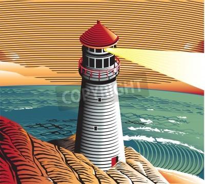 Nálepka letní Lighthouse