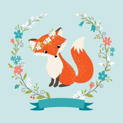 Nálepka Letní liška