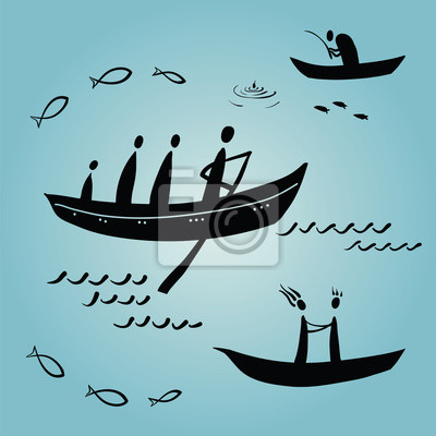 lidé plovoucí v lodích, etnika, rybaření